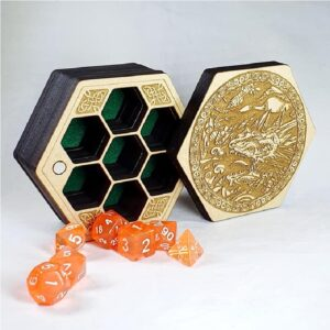 Dungeons and Dragons Hexagon Dice Box