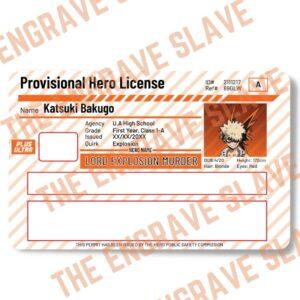 Anime Credit bank card sticker My hero academia Bakugo 1