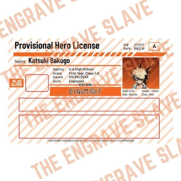 Anime Credit bank card sticker My hero academia Bakugo 2