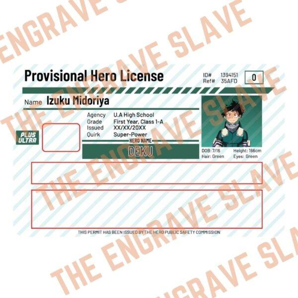 Anime Credit bank card sticker My hero academia Deku