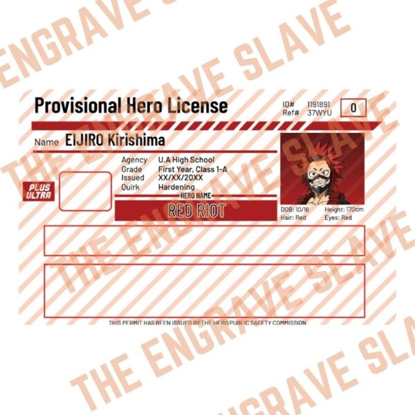 Anime Credit bank card sticker My hero academia Red Riot