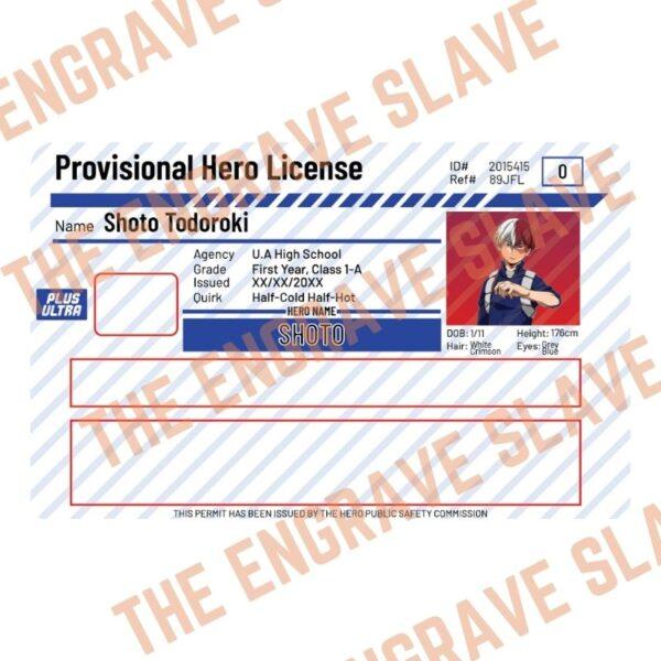 Anime Credit bank card sticker My hero academia Shoto