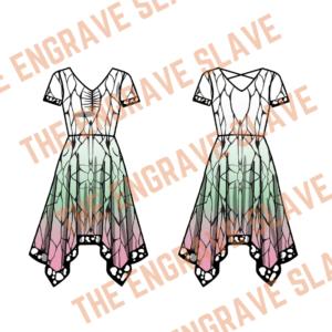 Anime Handkerchief Dress Demon Slayer Shinobu