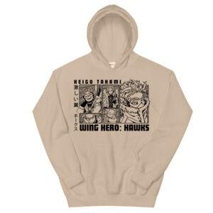 Anime-Hoodie-–-My-Hero-Academia---Hawks-Front-stone