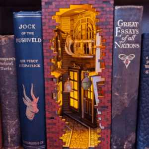 PAINTED Harry Potter Inspired Book Nook Diagon Alley 4