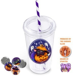 Purple Cup with badges