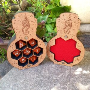 Dungeons and dragons potion dice box open
